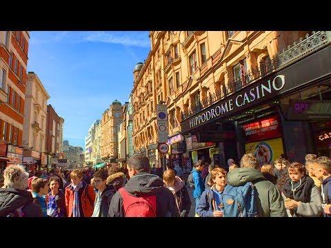 London Walk of Theatre District - Soho - Piccadilly Circus - Haymarket - Trafalgar Square | England