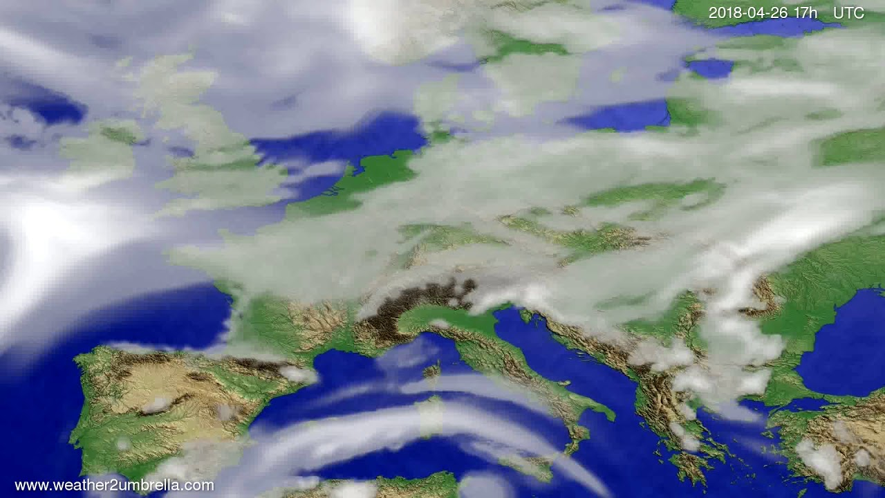 Cloud forecast Europe 2018-04-24