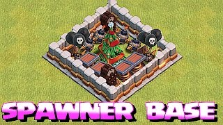 NEW EPIC SPAWNER BASE 🔸TRAP YOUR TREE IN COC🔸Clash of clans Christmas
