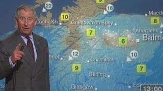 Video Prince Charles reads the BBC Scotland weather forecast MP3, 3GP, MP4, WEBM, AVI, FLV Januari 2018