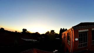 Fisheye Sunset Roof View