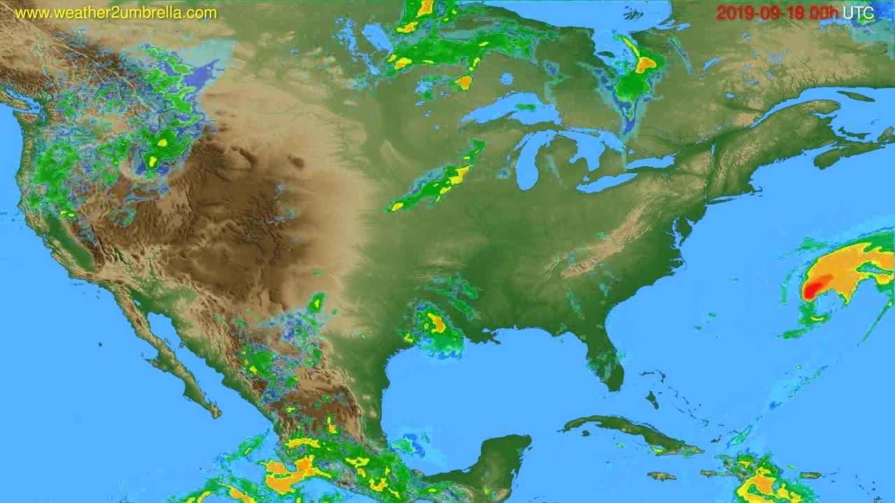 Radar forecast USA & Canada // modelrun: 12h UTC 2019-09-18