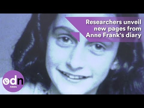 Researchers unveil new pages from Anne Frank's diary