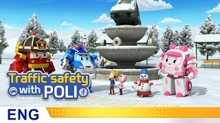 Video Trafficsafety with Poli | #19.Snowy day safety rules MP3, 3GP, MP4, WEBM, AVI, FLV Oktober 2018