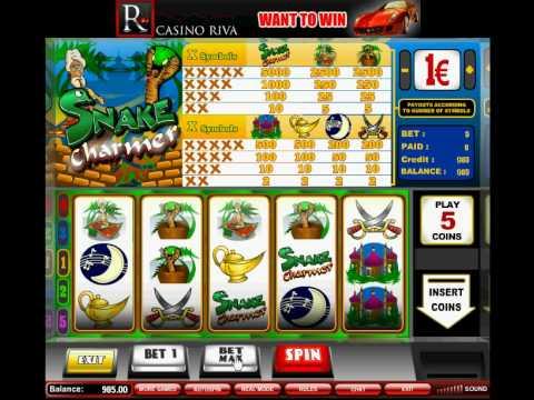 http://www.casinoriva.com/ SNAKE CHARMER SLOT MACHINE