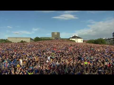 Download Video Iceland Euro 2016 Stars Perform Final Viking Clap With Thousands Of Fans In Reykjavík