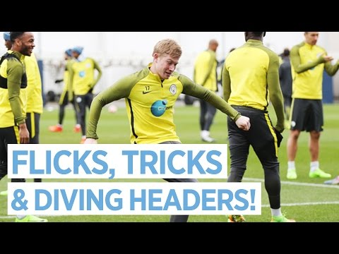 Video: FLICKS, TRICKS & DIVING HEADERS! | Man City FA Cup Training