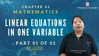 Chapter 2 Part 1 of 2 - Linear equations in one variable