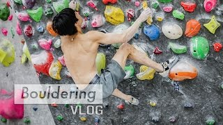 Jongwon Chon & Sol Sa Bouldering Training Technique by Bouldering Vlog