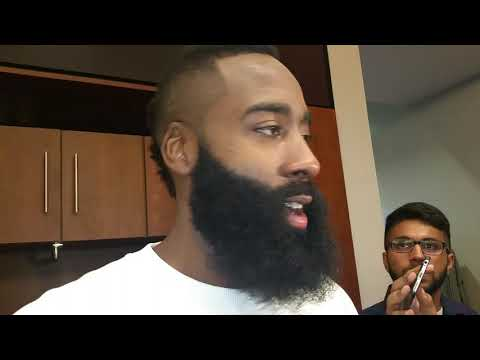 James Harden after scoring 37 in win over Knicks
