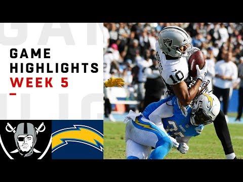 Raiders vs. Chargers Week 5 Highlights | NFL 2018