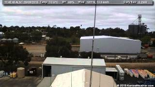 28 August 2015 - South Facing WeatherCam Timelapse
