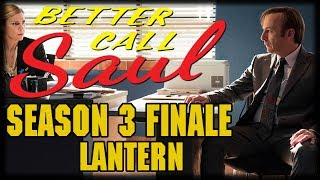 "Better Call Saul Season 3 Season Finale ""Lantern"" Recap and ReviewKim resolves to take some time off from work, while Jimmy does his best to make amends; Nacho takes a major gamble with his future; Hamlin applies pressure on Chuck to finally make a decisionon Better Call Saul Season 3 Season Episode 10 Lantern Recap and Review!---Please Subscribe: https://www.youtube.com/user/theissuesguystuff?sub_confirmation=1Check out your favorite Shows Playlist! https://www.youtube.com/user/theissuesguystuff/playlistsSubscribe to our podcast on ITunes http://issuesprogram.com/itunes/https://itunes.apple.com/us/podcast/phils-recap-and-review-with-phil-theissuesguy-podcast/id943187265?mt=2Thanks for the support!---To help us Keep going and create more content  consider:Supporting the channel on Patreon: https://www.patreon.com/philtheissuesguyDonate to the Channel on Paypal:  https://www.paypal.me/PhiltheissuesguyAlso it really helps us to check out some off the offers and links bellow! http://www.audibletrial.com/Issues to sign up for 30 free days of Audible and get a free book! It helps us out BiG TIMEl! :)To get 30 days free with 1 games out on Gamefly sign up with the link: http://gameflyoffer.com/issuesSign up LootCrate! http://www.trylootcrate.com/issuesJoin the Record of the Month club: http://joinvmp.com/issues----Stay connected!Discord: https://discord.gg/0upUVdagXcUuzbfGGoogle Community: https://plus.google.com/u/0/communities/116286288385889495387Songs Used on the Show:  https://soundcloud.com/user-521817999And for more check out : http://Issuesprogram.com and our sisters channel http://youtube.com/dirtyissues for more fun!And If you have any questions or anything Call/Text 781 990 8509- 24/7Tweet @igotissuesmanor email igotissuesman@gmail.comThanks!http://issuesprogram.comhttps://twitter.com/igotissuesmanhttps://www.facebook.com/theissuesguyhttps://twitter.com/dirtylockzPartners/Associations Land Of ESH : http://www.electricsistahood.com http://www.youtube.com/dirtyissuesG4 Comic Etc: http://www.g4comicsetc.com------------------------------------------------------------------------------------------------------------------------------------------------------------------------Better Call Saul is an American television crime drama series created by Vince Gilligan and Peter Gould. It is a spin-off prequel of Breaking Bad, which was also created by Gilligan.[3] Set in 2002, Better Call Saul follows the story of small-time lawyer James Morgan ""Jimmy"" McGill (Bob Odenkirk), six years before his appearance on Breaking Bad as Saul Goodman; events after the original series are briefly explored.[4]"