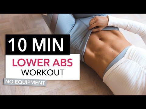 10 MIN LOWER AB WORKOUT / No Equipment I Pamela Reif