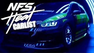 Alle Autos im Spiel - Need for Speed Heat Car list