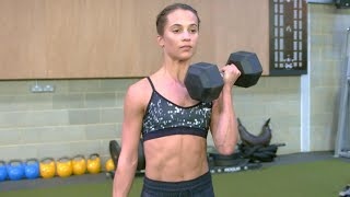 Video How Alicia Vikander Put on 12 Lbs. of Muscle to Play Lara Croft in 'Tomb Raider' MP3, 3GP, MP4, WEBM, AVI, FLV Maret 2018