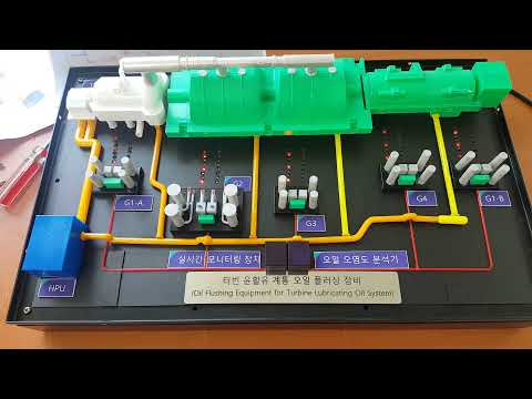 3d프린팅 Oil flow 디오라마