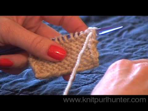 Purl Increase (pfb)