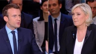 Video French Election: Le Pen and Macron Spar in First TV Debate MP3, 3GP, MP4, WEBM, AVI, FLV Juni 2017