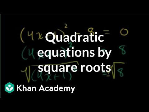 Solving quadratics by taking square roots challenge video solving quadratics by taking square roots challenge video khan academy ccuart Choice Image
