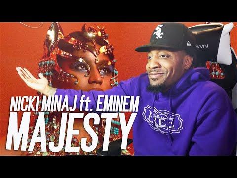 #EMINEMGOESLAST | Nicki Minaj - Majesty (ft. Eminem & Labrinth) REACTION!!!)