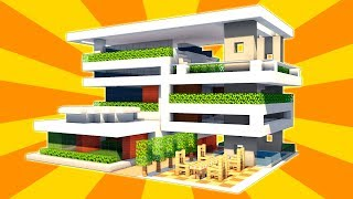 Minecraft: How to Build a Large Modern House Tutorial - Modern Base Tutorial