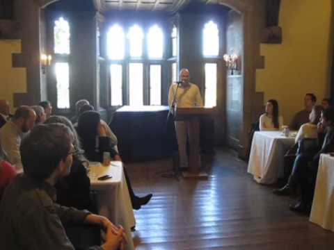 Yishai Goldflam addresses young professionals on remember the Holocaust pt. 1