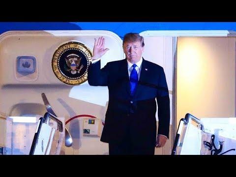 Toàn cảnh ông Donald Trump xuống sân bay và về khách sạn trong đêm - Thời lượng: 2:33.