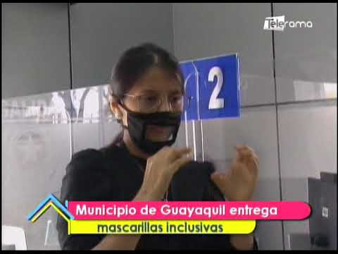 Municipio de Guayaquil entrega mascarillas inclusivas