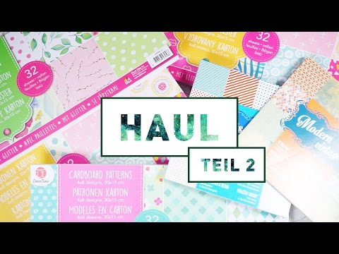 [Haul] Action – Teil 2: Bastelpapier – März 2017