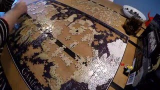 GAME OF THRONES 3D MAP OF WESTEROS PUZZLE VIDEO - Time lapse.