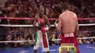 De La Hoya Mayweather Highlights