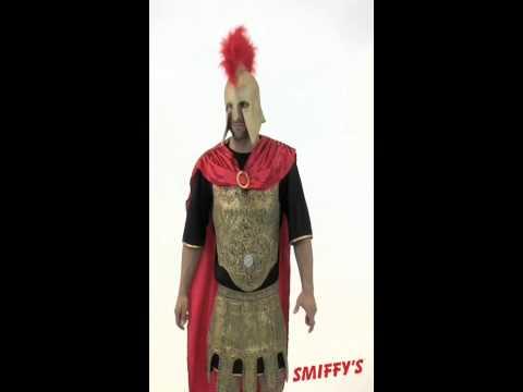 Costume de gladiateur doré et rouge