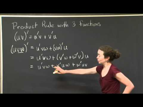 Product Rule | MIT 18.01SC Single Variable Calculus, Fall 2010