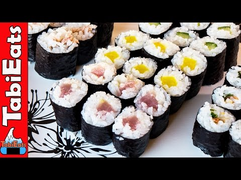 How to Make Sushi-Hosomaki (RECIPE TUTORIAL)
