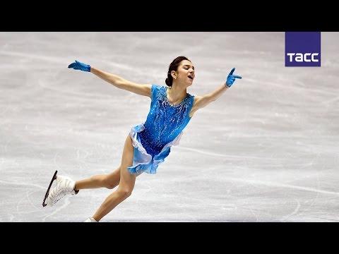 Евгения Медведева установила новый мировой рекорд в короткой программе на командном ЧМ в Токио