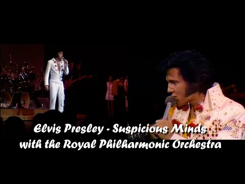 ELVIS PRESLEY -  Suspicious Minds (with Royal Philharmonic Orchestra) New Edit. 4K