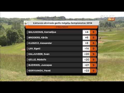 SportoTV.lt: Lietuvos atvirasis golfo mėgėjų čempionatas Sostinių golfo klube 2014-05-25