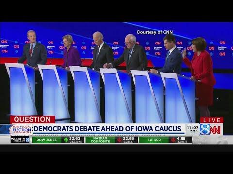 Democrats debate ahead of Iowa