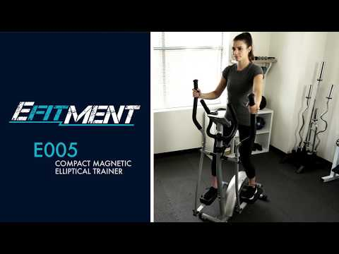 EFITMENT E005 Compact Magnetic Elliptical Trainer w/ LCD and Pulse Rate Grips