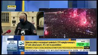 Dziennikarka doszukuje się działań antify podczas protestu w Warszawie