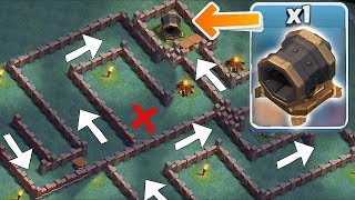 Video GIANT CANNON MAZE BASE!! | clash of clans | TROLL BASE! MP3, 3GP, MP4, WEBM, AVI, FLV Oktober 2017