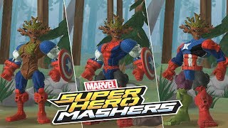 Download Lagu Marvel Super Hero Mashers - Groot Mix Captain America and Spader Man | Mix + Smash  part 2 Mp3
