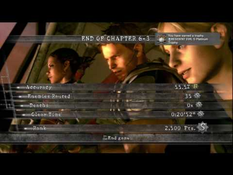 Resident Evil 5 Hd Professional Chapter 6-3 Ending + 100% Trophy P41