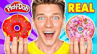 Video Making Food out of Play-Doh! Learn How To Make Diy Edible Candy vs Real Squishy Food Challenge MP3, 3GP, MP4, WEBM, AVI, FLV Juli 2019
