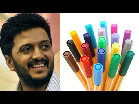 "Riteish Deshmukh Said That,"" I Theft A Sketch Pen From My School """