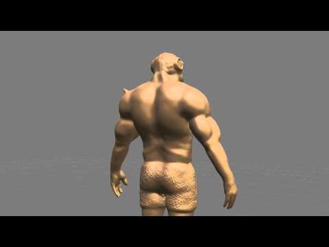 Autodesk Mudbox 2011 - Demon WIP