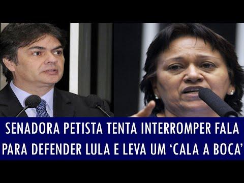Senadora petista tenta interromper fala para defender Lula e leva um 'cala a boca'