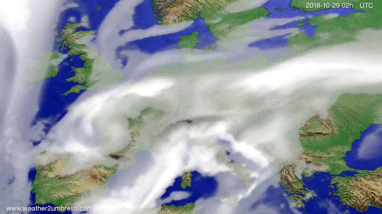 Cloud forecast Europe 2018-10-25