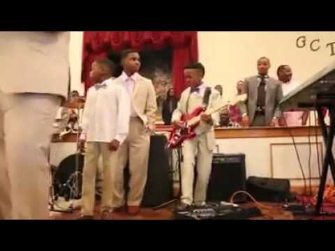 Young Boy is Amazing with Electric Guitar During Church Performance
